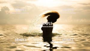 【トロピカルビーチ】海と人魚 写真素材