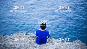 【残波岬】海の声 写真素材