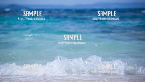 【久高島】海の芸術 写真素材