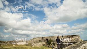 【中城城跡】城から見える景色 写真素材