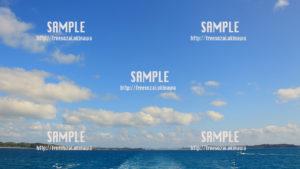 【海の上】船から見える青空 写真素材