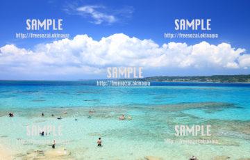 【コマカ島】透き通った海 写真素材