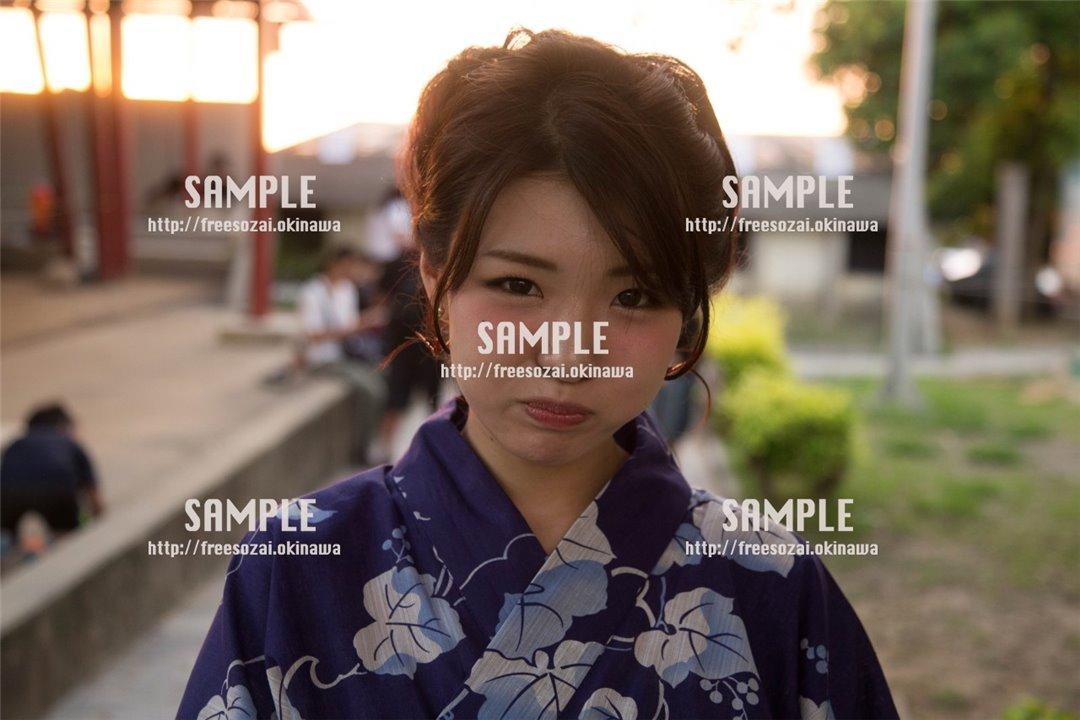 【てだこ祭り】激おこぷんぷん丸な女の子 写真素材
