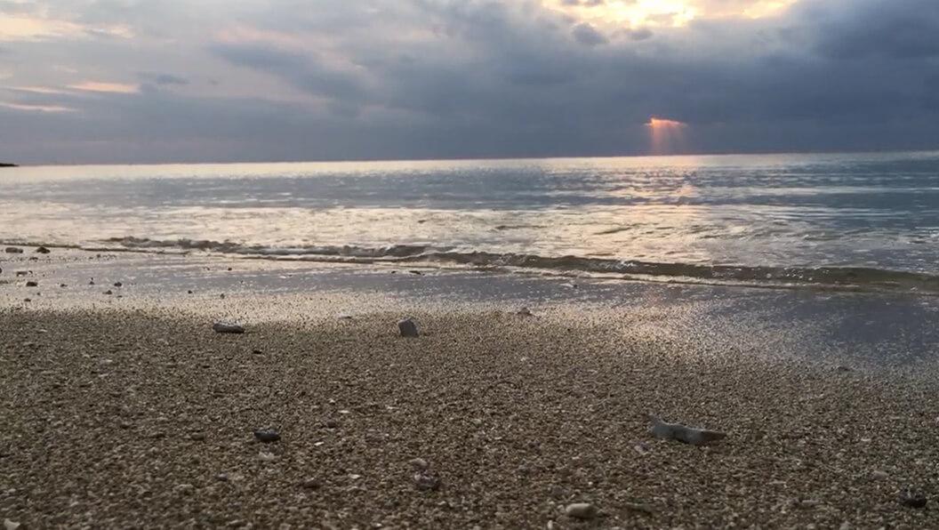 【糸満】波の流れ 動画素材