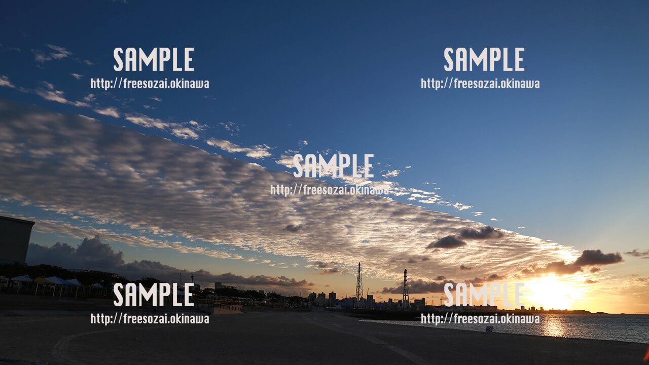 【トロピカルビーチ】秋の夕日 写真素材