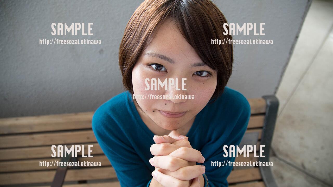 【パレット久茂地】美少女のお願い2 写真素材