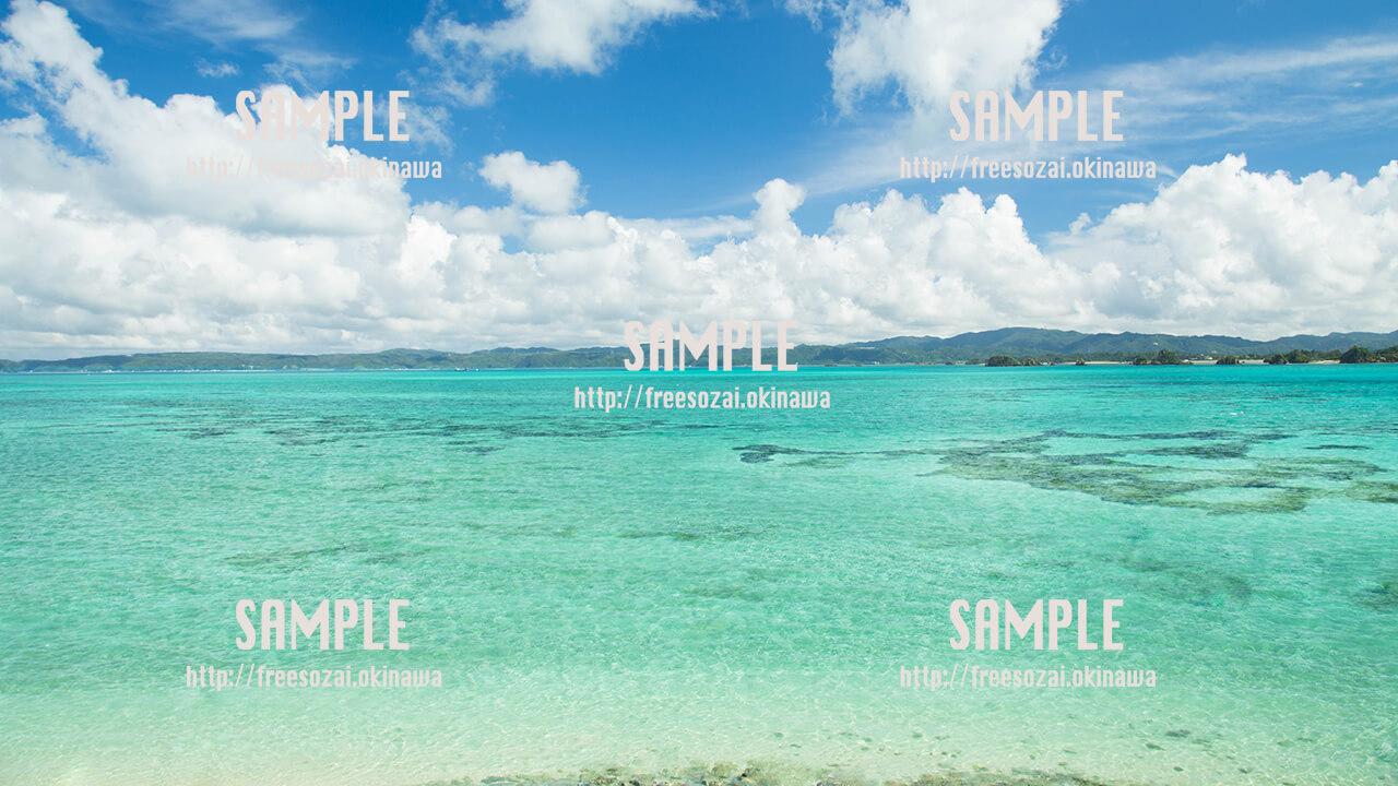 古宇利島の海 写真素材