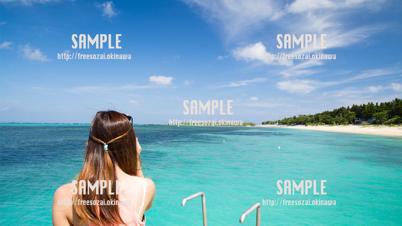 【トロピカルビーチ】青空 写真素材