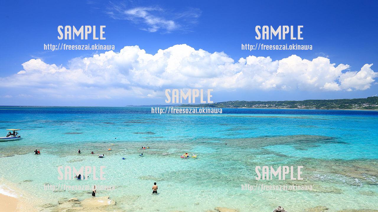 【コマカ島】夏だ!海水浴だ! 写真素材