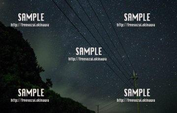 田舎の星空 写真素材