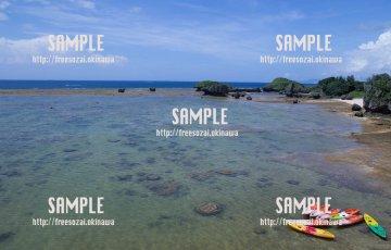 恩納村の海 写真素材