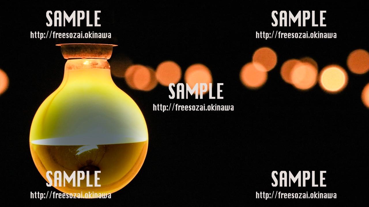 【沖縄】暖かく光る電照菊ランプ 写真素材