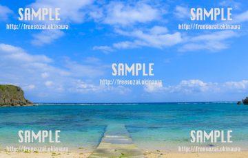 透き通る海と空 写真素材