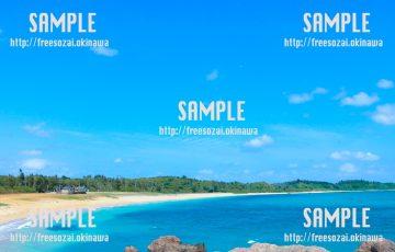 【沖縄】南国の砂浜 写真素材
