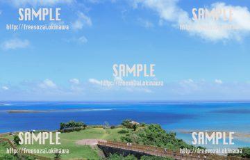 公園から眺める海 写真素材