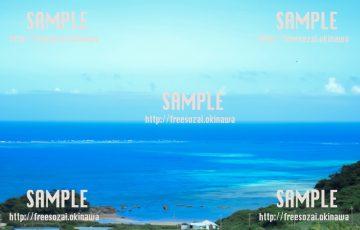 青くきれいな海 写真素材