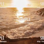 海と白い椅子 写真素材