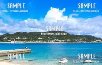海から見える島 写真素材