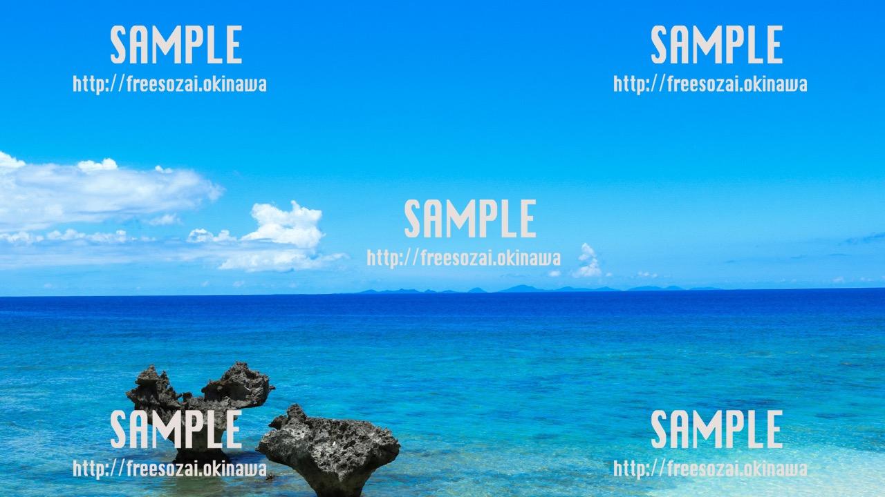 空と海 写真素材
