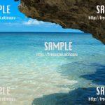 海と石 写真素材