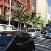 【国際通り】スターバックスの前を走る車 動画素材